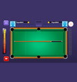 billiard pool mobile game complete gui set vector image vector image