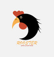 black rooster logo vector image vector image
