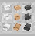 box cardboard carton parcels packaging vector image