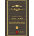 certificate grunge vector image vector image