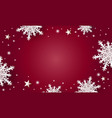 christmas background design of white snowflake vector image vector image