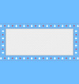 christmas or new year blue border rectangle vector image