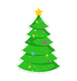 Christmas tree icon for holiday card