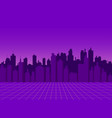 cityscape view night city with skyscrapers vector image vector image