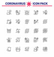 coronavirus awareness icons 25 line icon corona vector image vector image