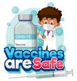coronavirus vaccination concept with cartoon vector image vector image
