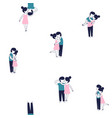 cute funny young couple in love seamless vector image