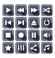 Dark Multimedia Icons With Long Shadow vector image
