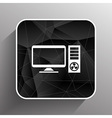 Desktop Computer Icon pc symbol laptop vector image