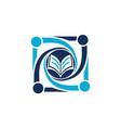 education community logo design template vector image