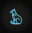 egyptian cat icon in glowing neon style vector image