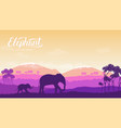 elephant with children is in the environment vector image vector image