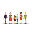 family people concept in flat vector image vector image