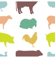 Farm Animal silhouettes vector image