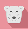 female polar bear icon flat style vector image