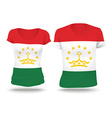 Flag shirt design of Tajikistan vector image vector image