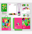 floral corporate identity templates set vector image