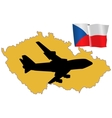 fly me to the Czech Republic vector image vector image