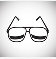 glasses icon on white background for graphic and vector image