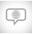 Global network grey message icon vector image vector image