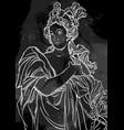 goddess of ancient greece hand-drawn beautiful vector image vector image