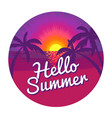 hello summer label vector image