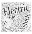 hybrid electric car Word Cloud Concept vector image vector image