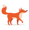 icon red fox isolated forest woodland animal vector image