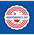 Independence day color badge vector image