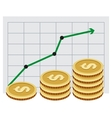 Investing money Money growth graph vector image vector image