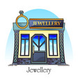 jewellery store or jewelry shop with diamond ring vector image vector image