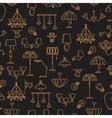 Lighting seamless pattern Lamp icon Brand vector image