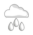 line cloud with rain and natural weather vector image vector image