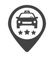 linear taxi or delivery driver rating icon vector image vector image