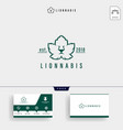 lion leaf nature logo template and business card vector image vector image