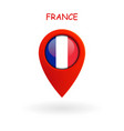 location icon for france flag vector image vector image