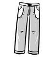 man gray trousers on white background vector image vector image