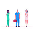medicine profession occupation doctors and vector image vector image