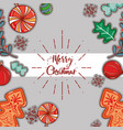 merry chistmas decoration card to celebration vector image