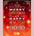 merry christmas party flyer brochure design vector image