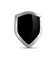 metal shield with a black screen isolated on white vector image vector image