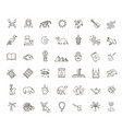 outline icons set - flat islam collection vector image