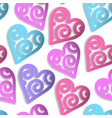 paper hearts seamless pattern vector image