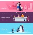 Parenthood 3 flat horizontal banners set vector image vector image