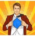 Pop art super dad hero vector image vector image