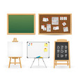 realistic detailed 3d different types boards set vector image