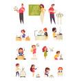 robotics for kids education set vector image