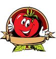 round tomato cartoon label vector image