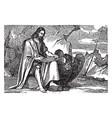 saint john evangelist writing vintage vector image vector image