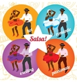 Salsa party or dance school poster with dancing vector image vector image